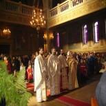 Slujba la biserica Belvedere