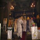 Liturghie in biserica Sfanta Ecaterina